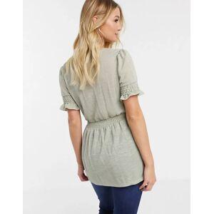 Mama.licious Mamalicious - T-shirt met peplumzoom-Grijs  - female - Grijs - Grootte: Medium