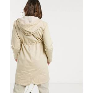 Mama.licious Mamalicious - Zwangerschap - Parka met borstvoedingsmogelijkheid in beige  - female - Beige - Grootte: Large