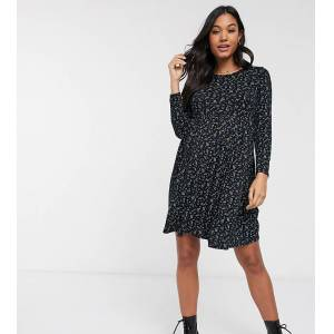 New Look Maternity - Aangerimpelde jersey jurk in bloem/stippenprint-Multi