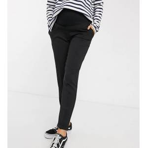 New Look Maternity - Broek met stretch over de buik vallend in zwart  - female - Zwart - Grootte: 44