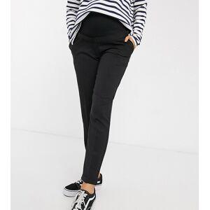 New Look Maternity - Broek met stretch over de buik vallend in zwart  - female - Zwart - Grootte: 46