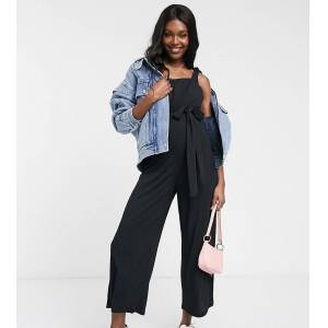 New Look Maternity - Jersey tuinbroek in zwart  - female - Zwart - Grootte: 36