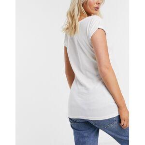 New Look Maternity - T-shirt met 'Bee Kind'-slogan in wit  - female - Wit - Grootte: 40