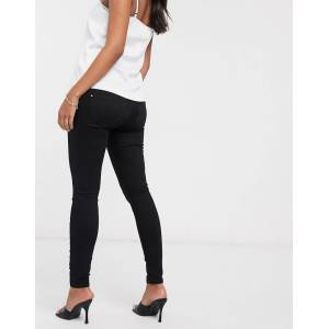 River Island Maternity River Island - Zwangerschapskleding - Molly - Skinny jeans met buikband in zwart  - female - Zwart - Grootte: 36