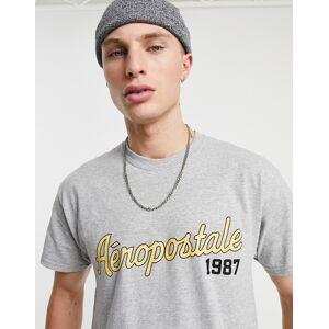 Aeropostale 1987 - T-shirt-Grijs  - male - Grijs - Grootte: Extra Large