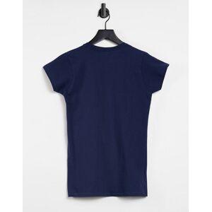 Aeropostale - 1987 - T-shirt met logo in marineblauw  - female - Marineblauw - Grootte: Small
