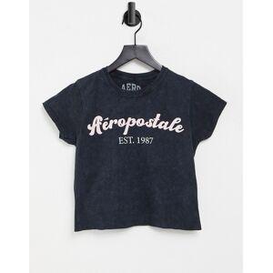 Aeropostale Est. 1987 - T-shirt met acid wash-Zwart  - female - Zwart - Grootte: Extra Small