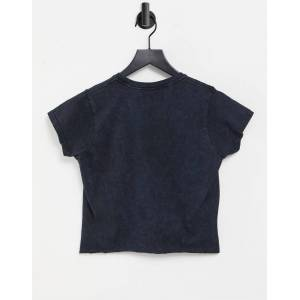 Aeropostale Est. 1987 - T-shirt met acid wash-Zwart  - female - Zwart - Grootte: 2X-Small