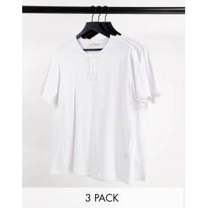 Aeropostale - Set van 3 henley T-shirts-Wit  - male - Wit - Grootte: Medium