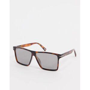 Marc Jacobs - Vierkante zonnebril van bruin tortoise acetaat met spiegelende glazen  - female - Bruin - Grootte: No Size