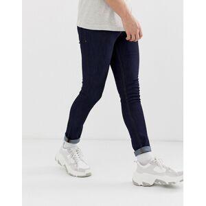 New Look - Skinny jeans in donkerblauwe wassing  - male - Blauw - Grootte: W32 Reg