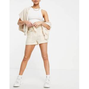 Parisian - Short met gestrikte taille in zandkleur-Neutraal  - female - Neutraal - Grootte: 38