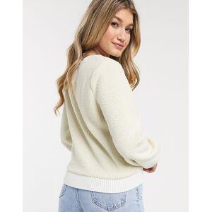 Abercrombie & Fitch - Sherpa sweatshirt-Crème  - female - Crème - Grootte: Large