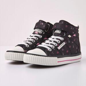 british knights DEE Meisjes hoge sneakers flamingo print - Zwart - maat 32