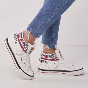 british knights ROCO Dames hoge sneakers union jack print - Wit - maat 38