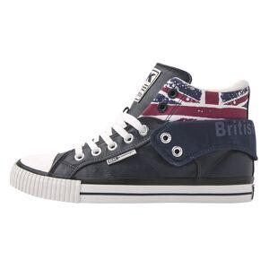 british knights ROCO Heren hoge sneakers union jack print - Donker blauw - maat 43