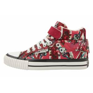 british knights ROCO Meisjes sneakers hoog - Rood - maat 34