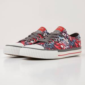 british knights MASTER LO DAMES SNEAKERS LAAG, RED, 38, POLYESTER