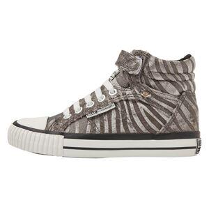 british knights DEE Meisjes sneakers hoog - Grijs zebra - maat 34