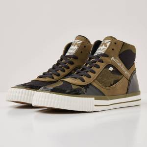 british knights SNAPPER Dames sneakers hoog - Olijf groen - maat 37