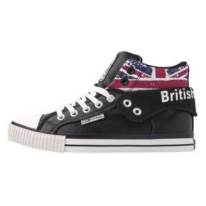 british knights ROCO Heren hoge sneakers union jack print - Zwart - maat 42