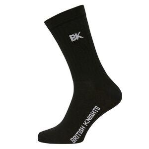 british knights 3 Paar Unisex tennis sokken - Zwart - maat 43-46