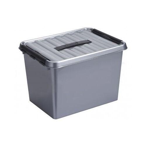 Q-line Box 22L metaal/zwart - Q-line