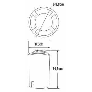 Konstsmide Grondinbouwspot PowerLED covered 230V, diameter 8.8cm, lbh 8.2x8.2x12.