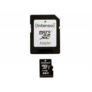 Intenso MicroSDXC 64GB Intenso Premium CL10 UHS-I +Adapter Blister - Intenso