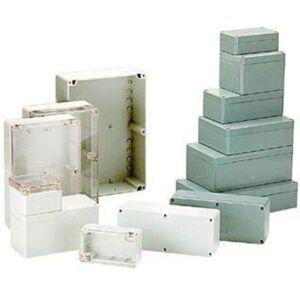 HQ Products BEHUIZING IN POLYCARBONAAT - LICHTGRIJS MET DOORSCHIJNEND DEKSEL 220 x
