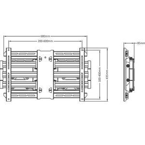 Multibrackets Muursteun Universal Flexarm Pro 125 kg Super Duty - Mult