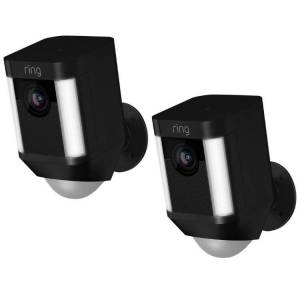 Ring Draadloze deurbel - Duopack RING Spotlight Smart IP-camera Batterij Zw