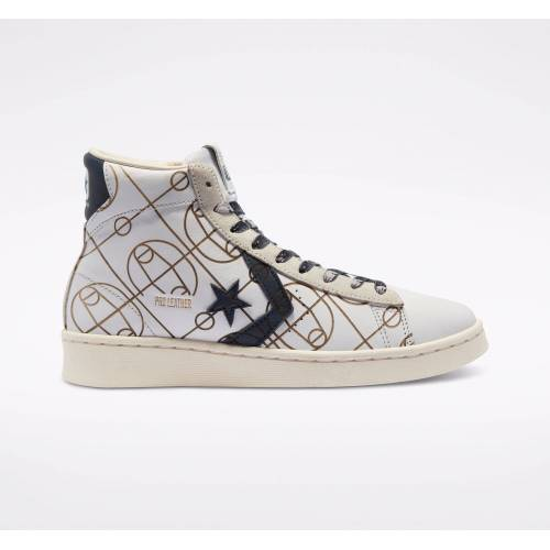 Converse Laser Graphics Pro Leather High Top  - basketbalveld - Size: 35,35.5,36,38,40,40.5,41,42.5,43,44,44.5,45