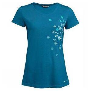 Vaude Skomer Print T-shirt Dames Blauw