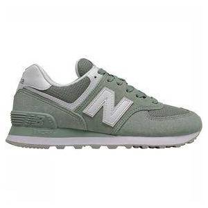 New Balance 574 Sneaker Dames Middenkaki/Wit