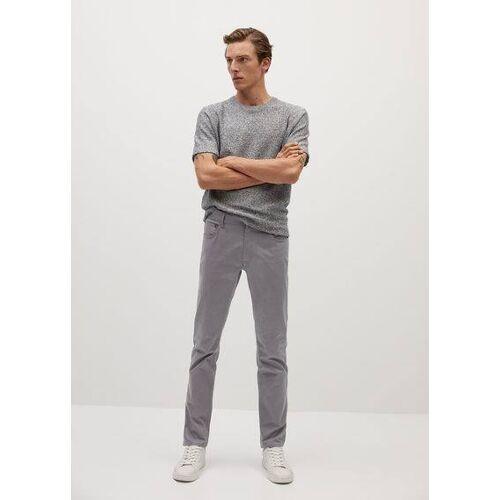mango man Jeansachtige slim-fit serge broek - Grijs, - Heren - 42,