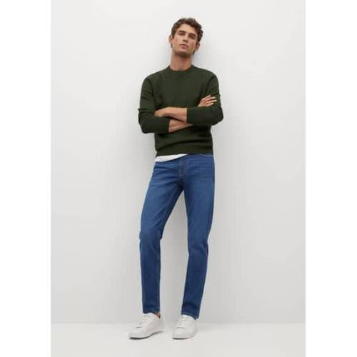 mango man Donkere Jan slim-fit jeans - Donkerblauw, - Heren - 46,