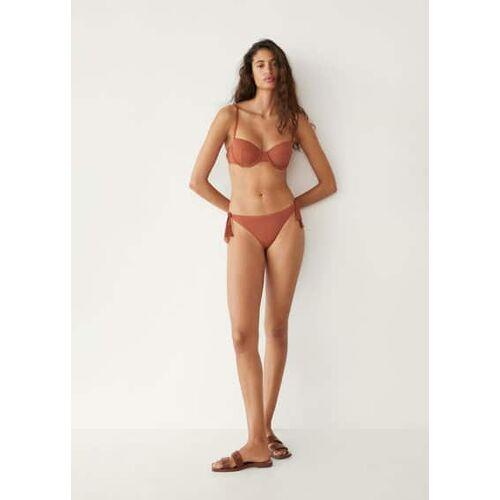 Mango Bikinitop - Bruin, - Dames - L,