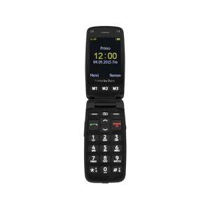 Primo by DORO 406 Senioren clamshell telefoon Met laadstation, SOS-knop Zwart