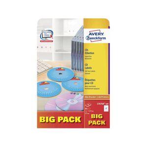 Avery-Zweckform L7676A-40P Ã 117 mm Papier Wit 80 stuk(s) Permanent Inkt, Laser
