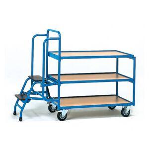Fetra 2106 Orderpickwagen Staal Poedercoating Laadvermogen (max.): 250 kg Stralend blauw (RAL 5007)