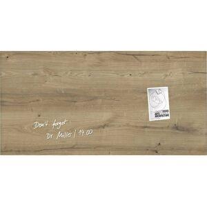 Sigel Glazen magneetbord Artverum Natural Wood Hout (b x h) 91 cm x 46 cm GL258
