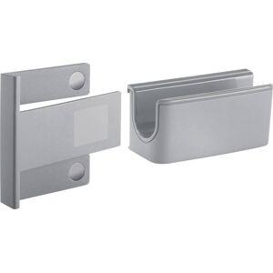 Sigel stifthouder GL810, lichtgrijs, inclusief magnetische clip voor bevestiging op glazen magneetborden, kunststof, 75 x 37 x 35 mm