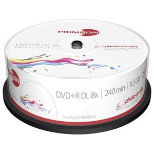 Primeon 2761252 DVD+R DL disc 8.5 GB 25 stuk(s) Spindel Bedrukbaar