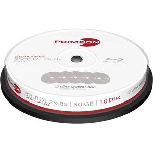 Primeon 2761311 Blu-ray BD-R DL disc 50 GB 10 stuk(s) Spindel Antikras-coating