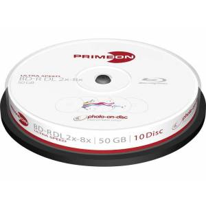 Primeon 2761312 Blu-ray BD-R DL disc 50 GB 10 stuk(s) Spindel Bedrukbaar
