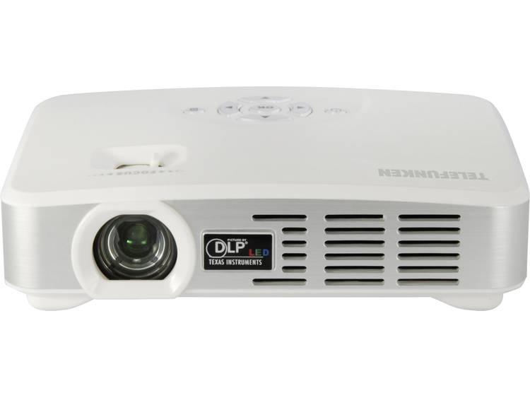 Telefunken Beamer DLP500 WIFI DLP Helderheid: 500 lm 1280 x 800 WXGA 1000 : 1 Wit