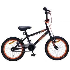 AMIGO BMX Danger 16 Inch 25,4 cm Junior V Brakes Zwart/Oranje