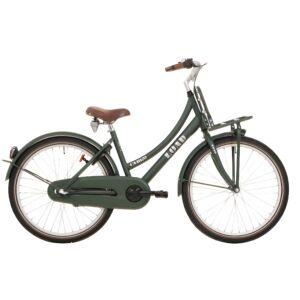 Bike Fun Load 24 Inch 39 cm Meisjes Terugtraprem Donkergroen