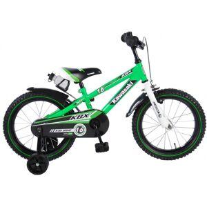 Kawasaki kinderfiets 16 Inch 25,4 cm Jongens Terugtraprem Groen